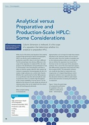 cover image for Analytical versus Preparative and Production-Scale HPLC: Some Considerations