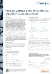 cover image for Kromasil wettable phase for successful separations in aqueous phase