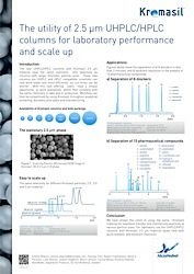 cover image for The utility of 2.5 μm UHPLC/HPLC columns for laboratory performance and scale up