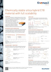 cover image for Chemically stable silica hybrid C18 material with full scalability